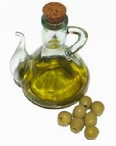 olio d^oliva sul viso
